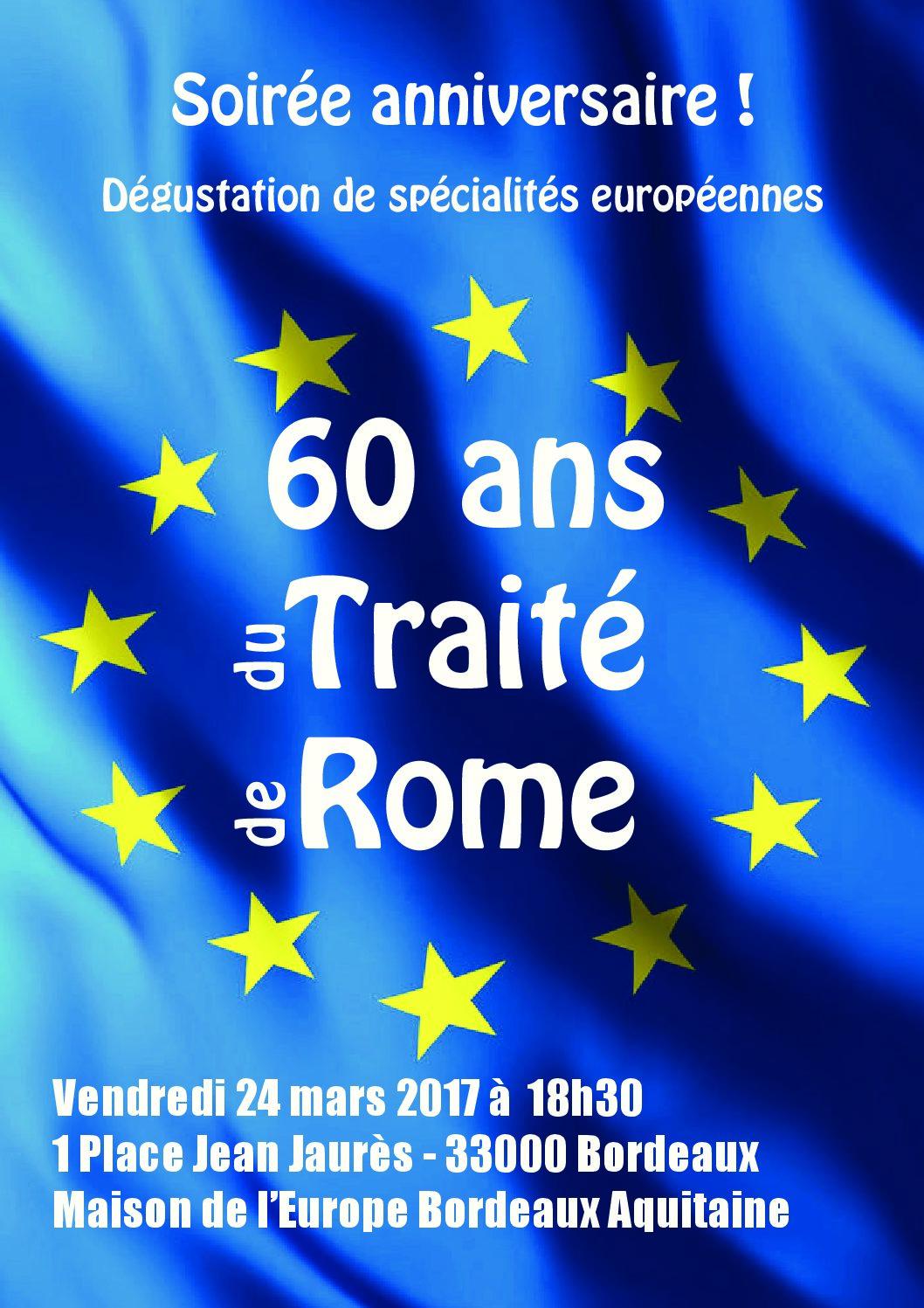 60e anniversaire du traité de Rome
